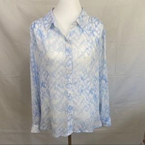Tara by Vince Camuto Button Up Blouse Size Large